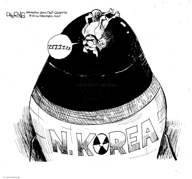 John Deering  John Deering's Editorial Cartoons 2016-09-16 North Korea Nuclear
