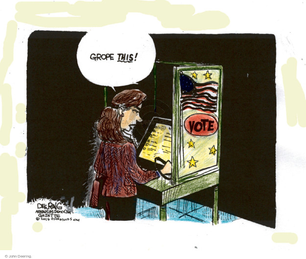 John Deering  John Deering's Editorial Cartoons 2016-10-15 voting rights