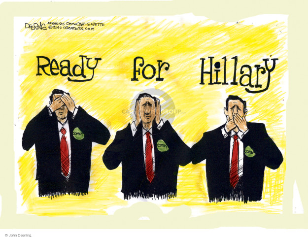 John Deering  John Deering's Editorial Cartoons 2016-10-25 2016 Election Hillary Clinton