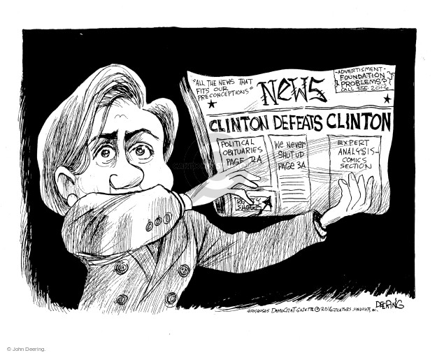 Cartoonist John Deering  John Deering's Editorial Cartoons 2016-11-12 candidate
