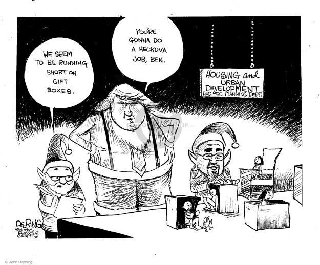 Cartoonist John Deering  John Deering's Editorial Cartoons 2016-12-09 politics