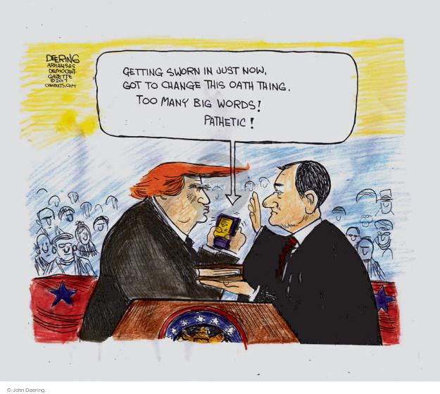 Cartoonist John Deering  John Deering's Editorial Cartoons 2017-01-04 politics