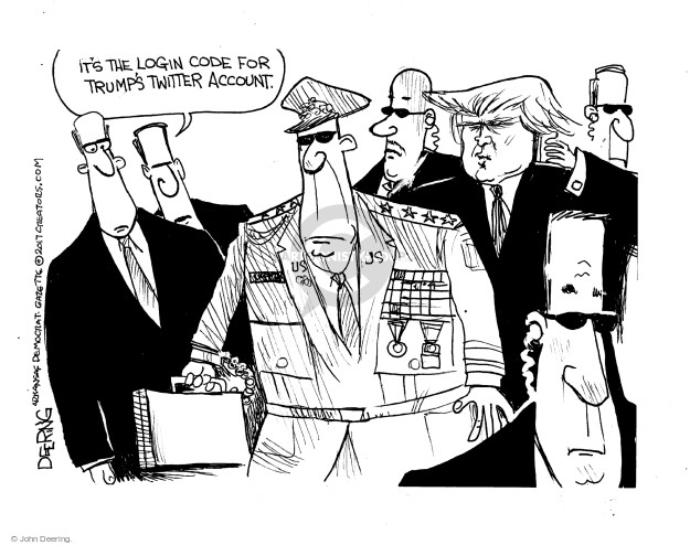 Cartoonist John Deering  John Deering's Editorial Cartoons 2017-01-11 politics