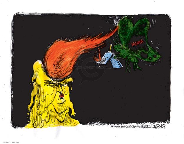 Cartoonist John Deering  John Deering's Editorial Cartoons 2017-01-15 reporter