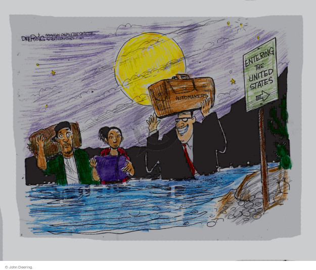 John Deering  John Deering's Editorial Cartoons 2017-01-16 tariff