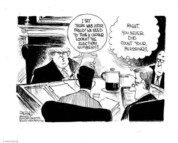 Cartoonist John Deering  John Deering's Editorial Cartoons 2017-01-29 2016 election