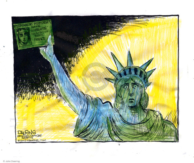 Cartoonist John Deering  John Deering's Editorial Cartoons 2017-01-31 John