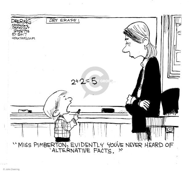 Cartoonist John Deering  John Deering's Editorial Cartoons 2017-02-03 miss