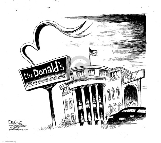 Cartoonist John Deering  John Deering's Editorial Cartoons 2017-02-07 John Branch