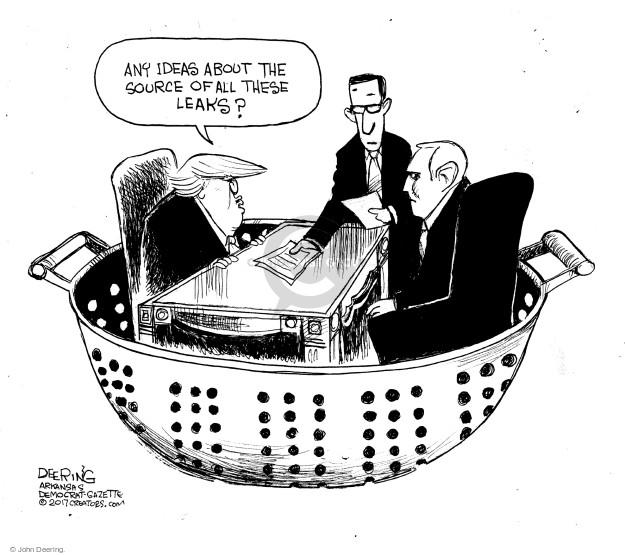 Cartoonist John Deering  John Deering's Editorial Cartoons 2017-02-17 John