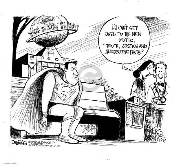 Cartoonist John Deering  John Deering's Editorial Cartoons 2017-02-26 reporter