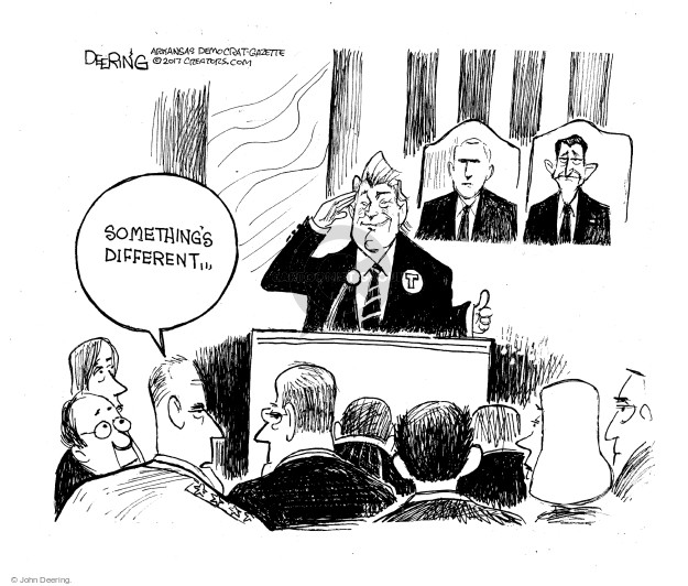 Cartoonist John Deering  John Deering's Editorial Cartoons 2017-03-04 John