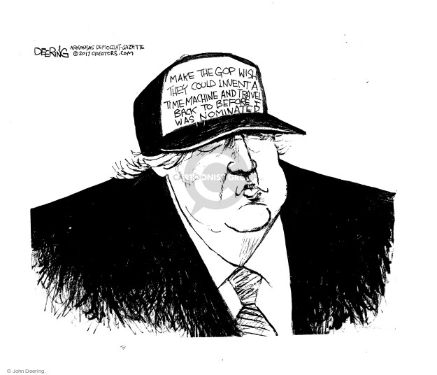 Cartoonist John Deering  John Deering's Editorial Cartoons 2017-03-25 presidential leadership