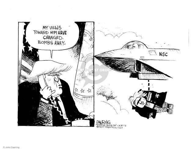 Cartoonist John Deering  John Deering's Editorial Cartoons 2017-04-08 staff