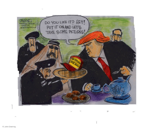 Cartoonist John Deering  John Deering's Editorial Cartoons 2017-05-24 politics