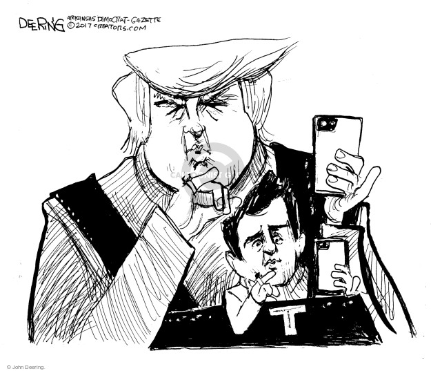 Cartoonist John Deering  John Deering's Editorial Cartoons 2017-07-15 campaign
