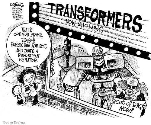 Cartoonist John Deering  John Deering's Editorial Cartoons 2007-07-12 republican senate