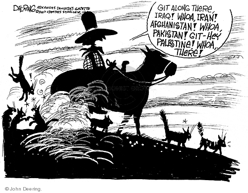 Cartoonist John Deering  John Deering's Editorial Cartoons 2007-07-17 Iraq