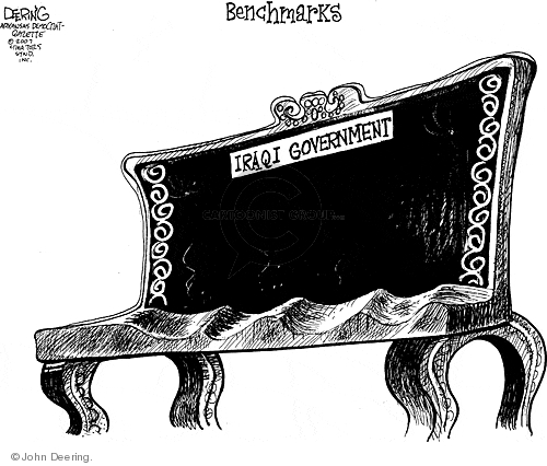 Cartoonist John Deering  John Deering's Editorial Cartoons 2007-07-20 Iraq