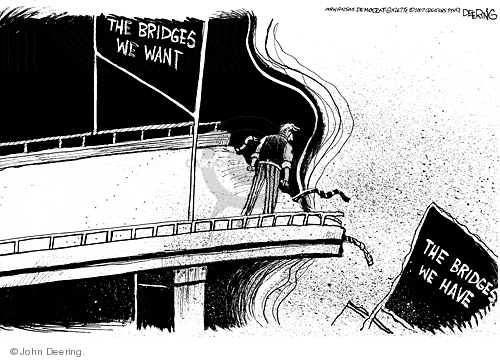 John Deering  John Deering's Editorial Cartoons 2007-08-03 bridge