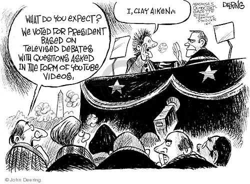John Deering  John Deering's Editorial Cartoons 2007-08-08 Clay Aiken