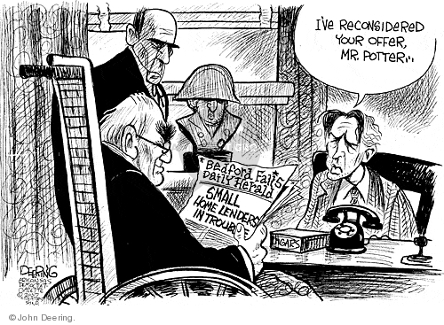 Cartoonist John Deering  John Deering's Editorial Cartoons 2007-08-20 banker
