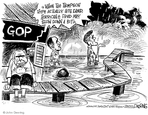 Cartoonist John Deering  John Deering's Editorial Cartoons 2007-08-22 Fred Thompson