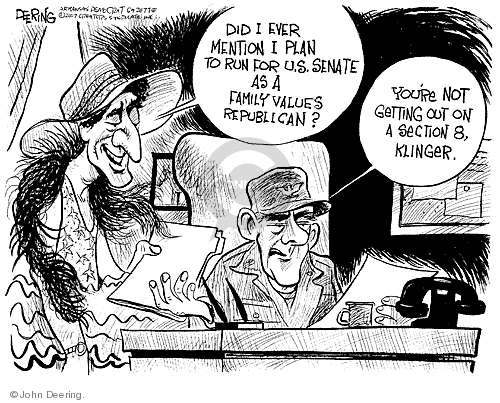 Cartoonist John Deering  John Deering's Editorial Cartoons 2007-09-06 republican senate
