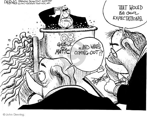 Cartoonist John Deering  John Deering's Editorial Cartoons 2007-10-19 Fred Thompson