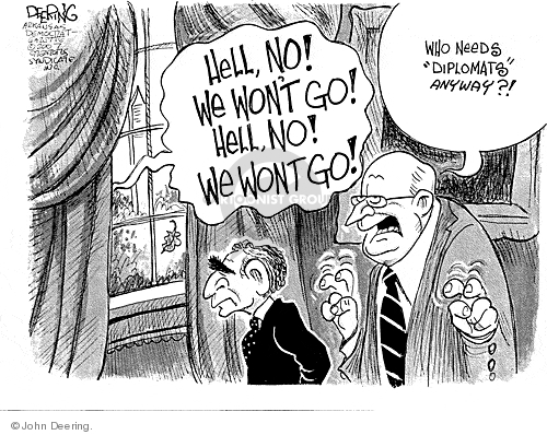 Cartoonist John Deering  John Deering's Editorial Cartoons 2007-11-02 Bush Cheney