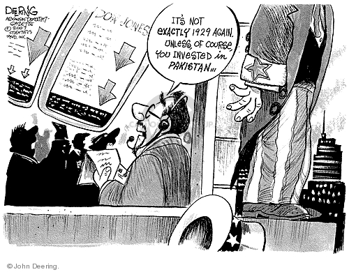 John Deering  John Deering's Editorial Cartoons 2007-11-09 stock market
