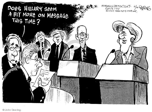 Cartoonist John Deering  John Deering's Editorial Cartoons 2007-11-16 senator