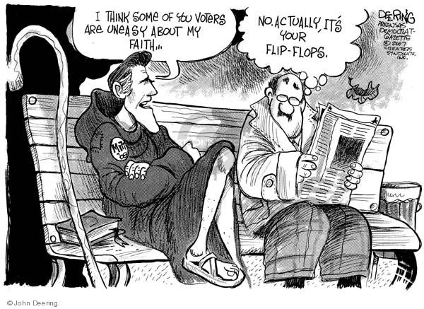 John Deering  John Deering's Editorial Cartoons 2007-12-04 Republican voter