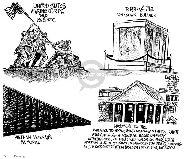 Cartoonist John Deering  John Deering's Editorial Cartoons 2007-12-10 destruction