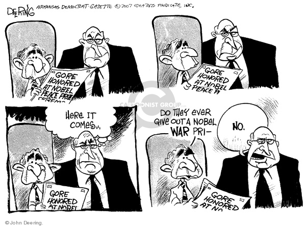 Cartoonist John Deering  John Deering's Editorial Cartoons 2007-12-11 Bush Cheney