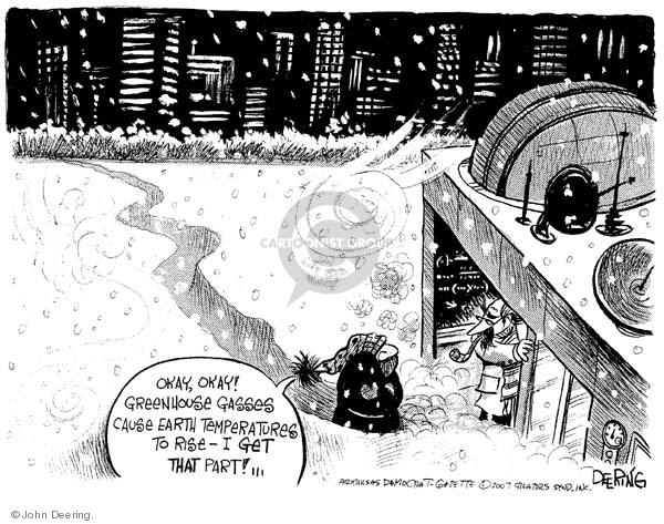 Cartoonist John Deering  John Deering's Editorial Cartoons 2007-12-18 John
