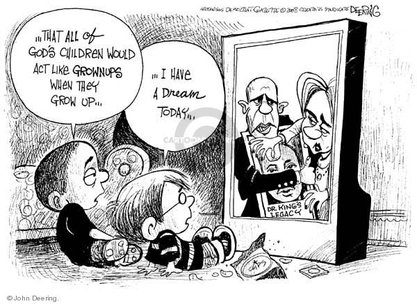 Cartoonist John Deering  John Deering's Editorial Cartoons 2008-01-15 senator