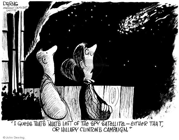 Cartoonist John Deering  John Deering's Editorial Cartoons 2008-02-26 satellite