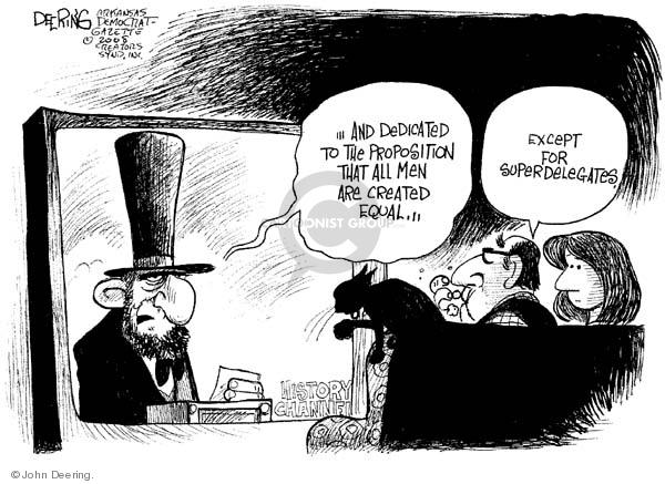 Cartoonist John Deering  John Deering's Editorial Cartoons 2008-02-27 democracy
