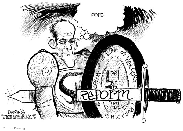 John Deering  John Deering's Editorial Cartoons 2008-03-11 New York governor