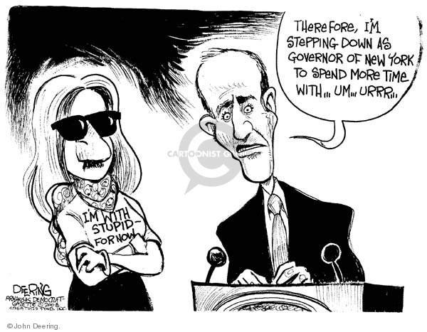 John Deering  John Deering's Editorial Cartoons 2008-03-13 New York governor