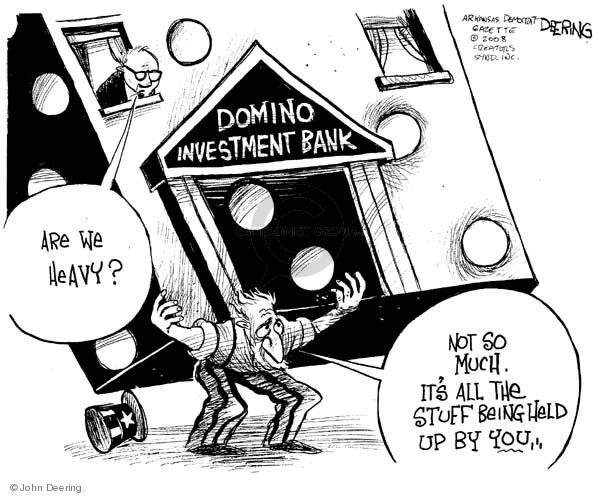 Cartoonist John Deering  John Deering's Editorial Cartoons 2008-03-18 banker
