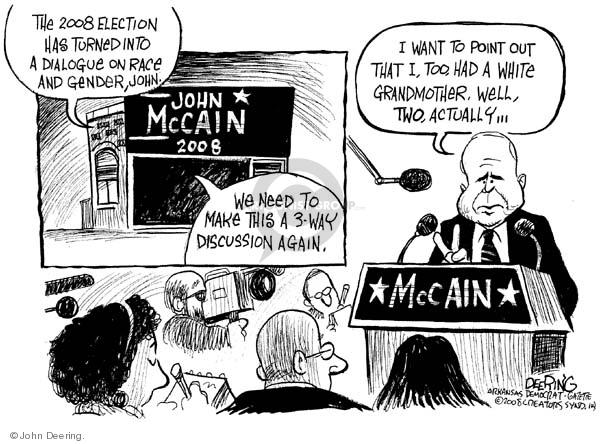 John Deering  John Deering's Editorial Cartoons 2008-03-20 racism