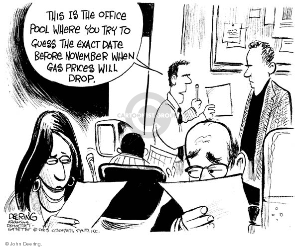 Cartoonist John Deering  John Deering's Editorial Cartoons 2008-03-21 gas price