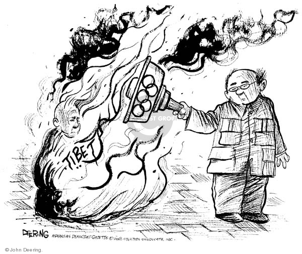 John Deering  John Deering's Editorial Cartoons 2008-04-01 chinese