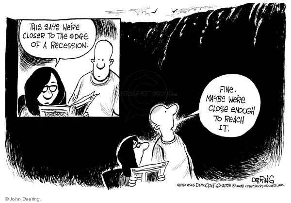 Cartoonist John Deering  John Deering's Editorial Cartoons 2008-04-07 recession