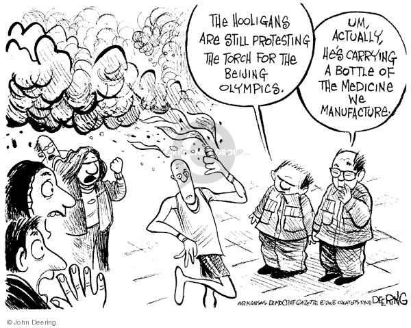 John Deering  John Deering's Editorial Cartoons 2008-04-09 2008 Olympics