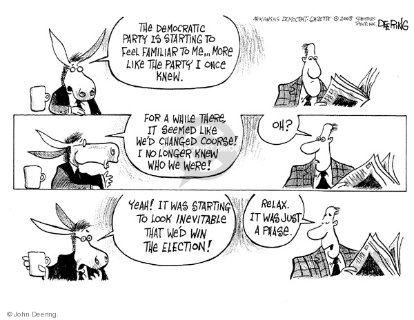 John Deering  John Deering's Editorial Cartoons 2008-04-16 presidential election