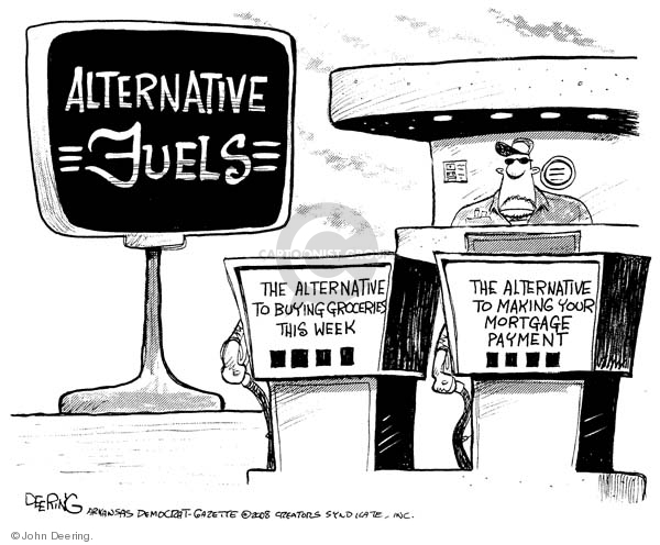 Cartoonist John Deering  John Deering's Editorial Cartoons 2008-04-22 gas