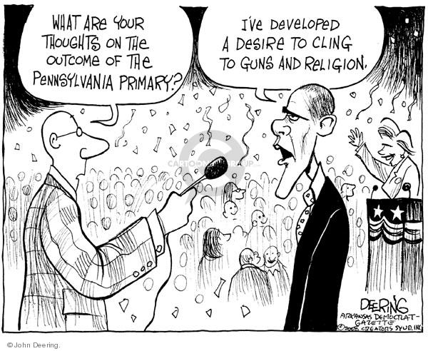 John Deering  John Deering's Editorial Cartoons 2008-04-24 election journalism
